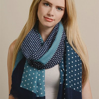 Navy & Denim Summer Scarf