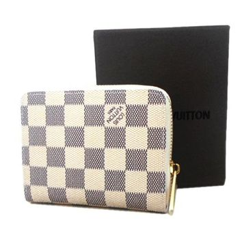 Louis Vuitton LV Women Leather Fashion Zipper Wallet Purse
