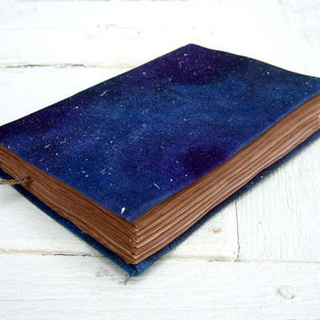 Cosmos, handmade journal, notebook, stars, 224 pages