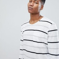 Noak T-Shirt In Stripe With Long Sleeves at asos.com