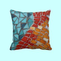 Red or Aqua American MoJo Pillow from Zazzle.com ~ JUSTART
