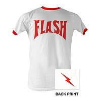 Men's Flash Ringer T-shirt - White/Red