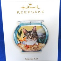 2006 Special Cat Retired Hallmark Ornament