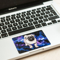 Pug in space Decal Touchpad Sticker