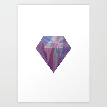Purple Jewel Art Print by M4xout