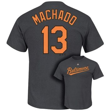 Majestic Baltimore Orioles Manny Machado Player Name and Number Tee