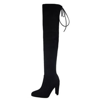 Lanna Suede Over The Knee Thigh High Boots