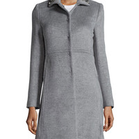 Rebecca Taylor Embellished Wool-Blend Coat, Gray