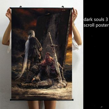 Dark Souls Wall Artist Canvas Scroll Poster 24x15.6 Inches