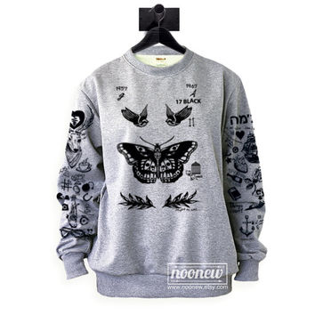 Larry Stylinson Tattoos Sweatshirt Update Sweater Crew Neck Shirt – Size S M L XL