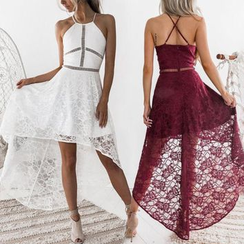 Lana Lace Hi Lo Dress