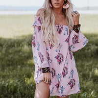 Temecula Off The Shoulder Mini - Pink