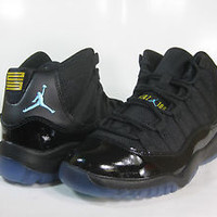JORDAN 11 RETRO (PS) Black/Gamma Blue-Maize -378039 006- PRESCHOOL