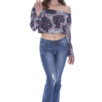Free Love Peasant Top