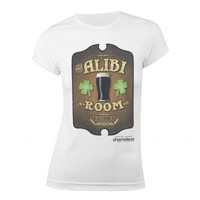 SHAMELESS ALIBI ROOM WOMEN'S JUNIOR FIT T-SHIRT