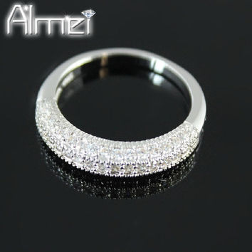 Trendy Platinum Plated Rhinestone Rings