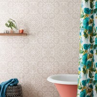 Cadiz Medallion Peel & Stick Removable Wallpaper Stucco Beige - Opalhouse™
