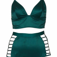 Satin Strappy Bralet and Highwaisted...