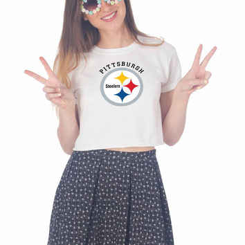 pittsburgh steelers For Womens Crop Shirt ***
