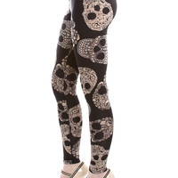 Baroque Skulls Leggings