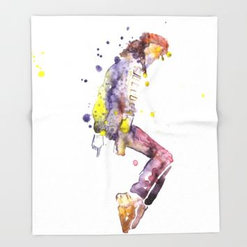 Pop Star Throw Blanket by Salome
