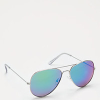 Green Mirror Lens Aviators