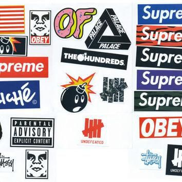 Supreme Sticker Pack - 23 Stickers - FREE SHIPPING WORLDWIDE - Skateboard, Car Bumper,