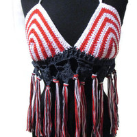 Stars and stripes red white and blue festival top