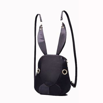 Cute Bags Lovely Cartoon Rabbit Bunny Nylon Shoulder Bags Backpack School Bags