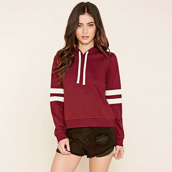 Women's Fall Fashion Winter Hoodies Stylish Stripes Long Sleeve Hats Sweater [9150487239]