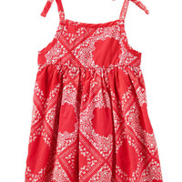 2-Piece Bandana Print Dress