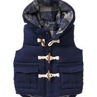Gap Baby Flannel Toggle Vest