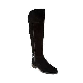 Franco Sarto Christine Wide Calf Black Riding Boot