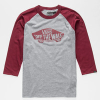 Vans Otw Boys Baseball Tee Charcoal  In Sizes