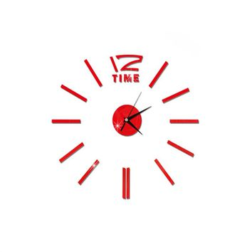 Modern DIY Wall Clock Large Frameless 3D Wall Clock Mirror Stickers for Home Living Room Office Decor