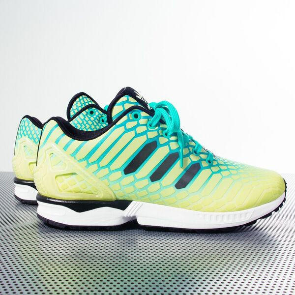 new concept 1a1d7 82510 adidas Originals ZX Flux XENO - Borealis Pack - Frozen Yellow/Shock  Mint/Footwear White