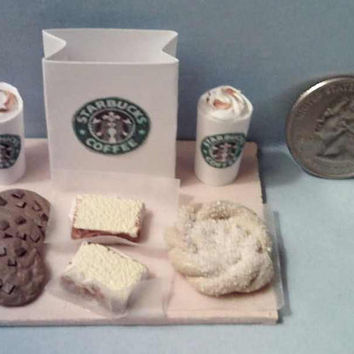 Barbie Sized Starbucks Food Board Set Chunky Chocolate Chip Cookies and more