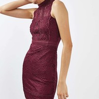 TALL Scallop Mix Lace Bodycon Dress | Topshop