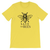 Save the Bees Unisex short sleeve t-shirt