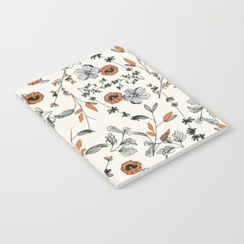 Floral pattern Flowers Notebook by chotnelle