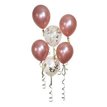 Rose Gold Confetti Balloons, Shiny Pearl Latex Balloon, Wedding Bridal Party Bachelorette Party, Birthday Party