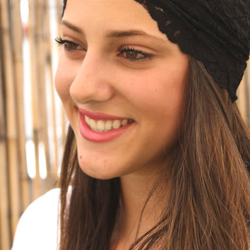Black and brown Headband, wide headband,  Women Hair Accessories, Boho chic, Elastic Headband,  Headbands, Turban Head Wrap