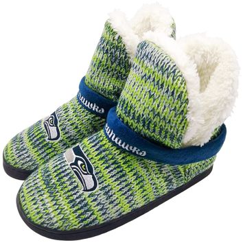 Seattle Seahawks Official NFL Wordmark Peak Boot - Womens