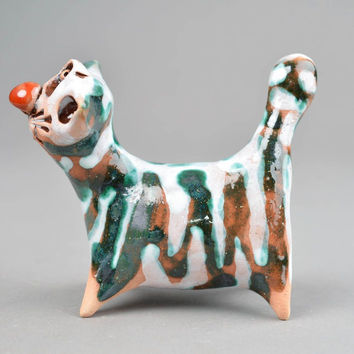 Homemade home decor ceramic figurine cat figurines gifts for cat lovers