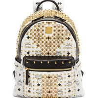 Diamond Visetos Small Backpack, White - MCM