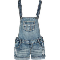 VANILLA STAR Raw Edge Cuff Womens Denim Overalls 191562873 | rompers & jumpsuits | Tillys.com