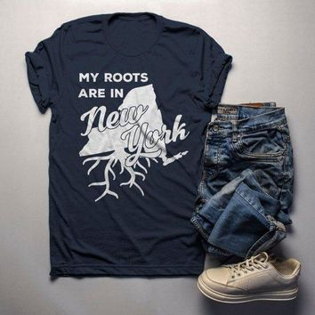Men's New York T Shirt Roots Are In Shirt State Pride Shirts Gift Idea Tee
