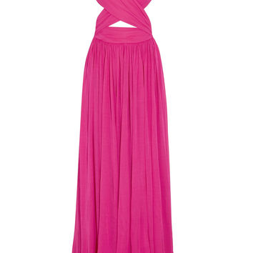 Cutout gathered stretch-cady gown | Michael Kors Collection | PR | THE OUTNET