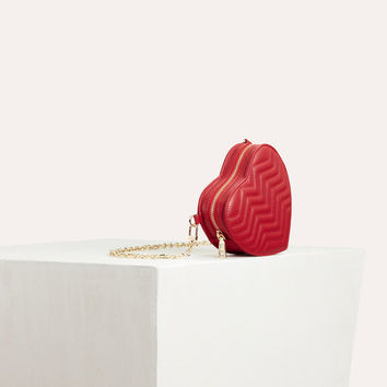 STAR Quilted leather heart-shaped saddle bag