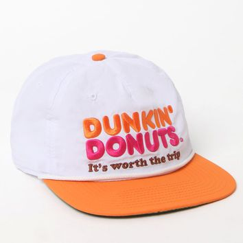 PacSun Dunkin' Donut Snapback Hat - Mens Backpack - White - One